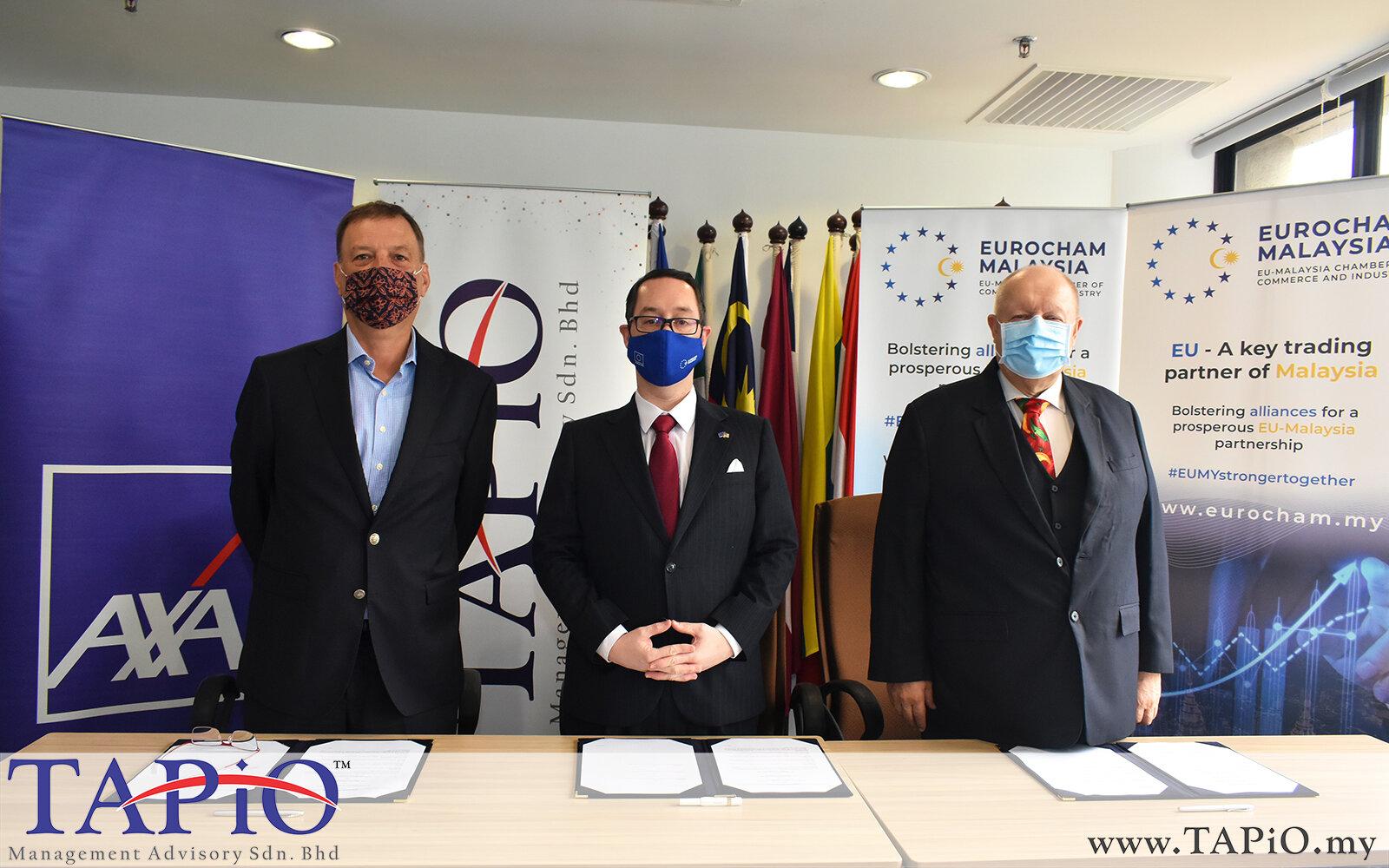 20201005 - Signing Ceremony between EUROCHAM. AXA and TAPiO