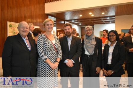 Chairman of TAPiO Management Advisory Mr. Bernhard Schutte and the interns with the Ambassador of Norway H.E. Gunn Jorid Roset and her spouse Dr. Christian Gartmann.