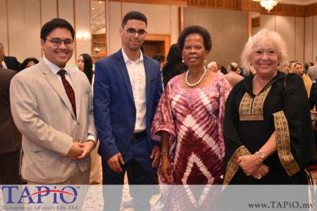 from left to the right: Mr. Nur Redzlan Nur Jazlan, Mr. Oussama Boudmarh, High Commissioner of South Africa Samkelisiwe Isabel Mhlanga, Dr. Cinzia Giordanelli - Kohlrieser