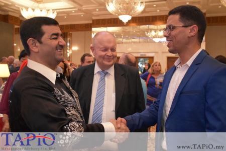 from left to the right: Ambassador of Kuwait H.E. Saad Abdullah Saleh A.Al-Asousi, Chairman of TAPiO Management Advisory Mr. Bernhard Schutte, Mr. Oussama Boudmarh