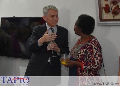 from left to the right: Ambassador of Chile H.E. Rodrigo Perez Manriquez, Ambassador of Namibia H.E. Anne Namakau Mutelo