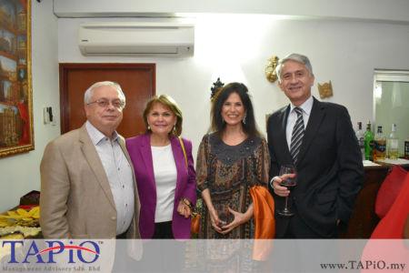 from left to the right: Ambassador of Russia H.E Valerii Ermolov, Madam Irina N. Ermolova, Mrs. Patricia Gloria Trincado Clavero, Ambassador of Chile H.E. Rodrigo Perez Manriquez
