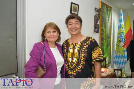 from left to the right: Madam Irina N. Ermolova, Mr. Kok Kee Boon