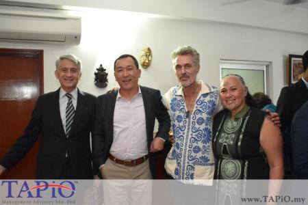 from left to the right: Ambassador of Chile H.E. Rodrigo Perez Manriquez, Ambassador of Kazakhstan H.E. Daniyar Sarekenov, Mrs. Ivy Smith, Mr. Menno Philippo