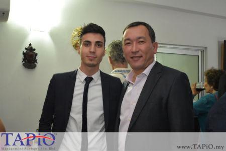 from left to the right: Mr. Mehmet Akalin, Ambassador of Kazakhstan H.E. Daniyar Sarekenov