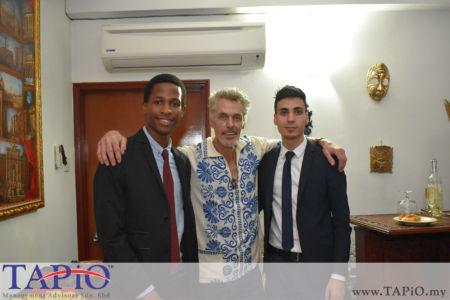 from left to the right: Mr. Arlington Shoko, Mr. Menno Philippo, Mr. Mehmet Akalin