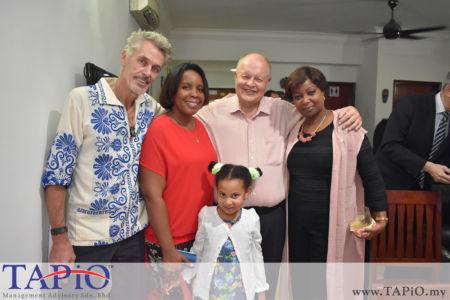 from left to the right: Mr. Menno Philippo, Ambassador of Cuba Ibete Fernandez Hernandez, Chairman of TAPiO Management Advisory Mr. Bernhard Schutte, Ambassador of Senegal Dr. Adrienne Diop