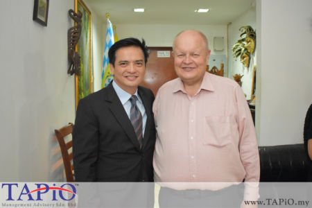 from left to the right: Ambassador of Philippines H.E. Charles C. Jose, Chairman of TAPiO Management Advisory Mr. Bernhard Schutte
