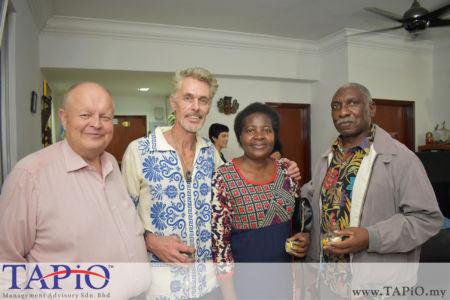 from left to the right: Chairman of TAPiO Management Advisory Mr. Bernhard Schutte, Mr. Menno Philippo, Ambassador of Namibia H.E. Anne Namakau Mutelo, Mr. Rector Muchimamui Mutelo