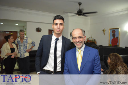 from left to the right: Mr. Mehmet Akalin, Ambassador of Italy H.E. Cristiano Maggipinto