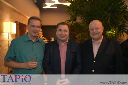 from left to the right: Ambassador of Austria H.E. Dr. Michael POSTL, Commercial Counsellor of Austria Mr. Werner SOMWEBER, Chairman of TAPiO Management Advisory Mr. Bernhard Schutte
