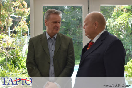 from left to the right: Commercial Counsellor of Austria Mr. Werner SOMWEBER, Chairman of TAPiO Management Advisory Mr. Bernhard Schutte