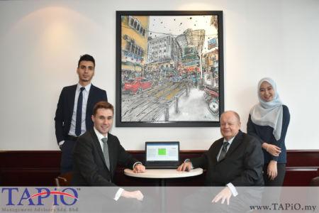 from left to the right: Mr. Mehmet Akalin, Mr. Maxime Vandenabeele, Chairman of TAPiO Management Advisory Mr. Bernhard Schutte, Ms. Ain Aisyah