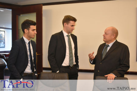 from left to the right: Mr. Mehmet Akalin, Mr. Maxime Vandenabeele, Chairman of TAPiO Management Advisory Mr. Bernhard Schutte