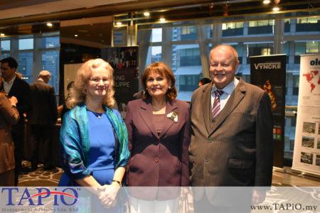 from left to the right: High Commisioner of Canada H.E. Julia G. Bentley, Madam Irina N. Ermolova, Chairman of TAPiO Management Advisory Mr. Bernhard Schutte