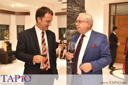Managing Partner of TAPiO Management Advisory Mr. Thomas Bernthaler with the Ambassador Russia to Malaysia H.E. Valery N. Yermolov