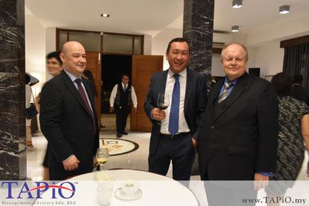 from left to the right: Ambassador of Uzbekistan of Malaysia H.E. Ravshan Usmanov, Ambassador of Kazakhstan to Malaysia H.E. Daniyar Sarekenov, Chairman of TAPiO Management Advisory Mr. Bernhard Schutte