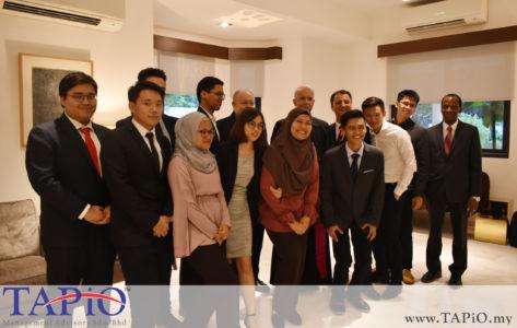 TAPiO team with the Ambassador of Holy See to Malaysia H.E. Joseph Marino