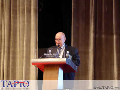 Mr. Bernhard Schutte, Chairman of TAPiO Management Advisory speaking about the gap between supply and demand of talent that is set to widen and the importance of the government, education institutes and industry to act quickly to ensure that the industry sectors are equipped with the necessary skills in the age of Industry 4.0