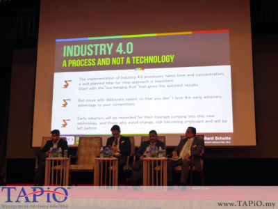 Mr. Bernhard Schutte, Chairman of TAPiO Management Advisory wanted to ensure that the audience understands that Industry 4.0 is a process and not some technology or software in a box.