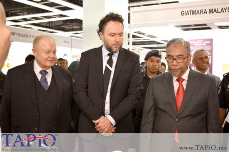 from left to the right: Chairman of TAPiO Management Advisory Mr. Bernhard Schutte, Ambassador of the Republic of Croatia H.E. Kreso Glavac, Deputy Minister of Entrepreneur Development Dr Mohamad Hatta Ramli