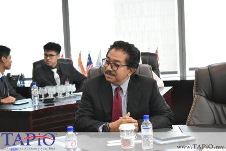 Chairman of Asia Logistics Council YBhg Tan Sri Abd Rahman Mamat