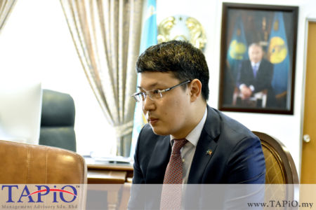 Third Secretary of the Embassy of Republic of Kazakhstan Mr. Birzhan Dulatbekov