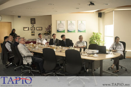 TAPiO team during the presentation at the Meeting of Port Klang Free Zone.