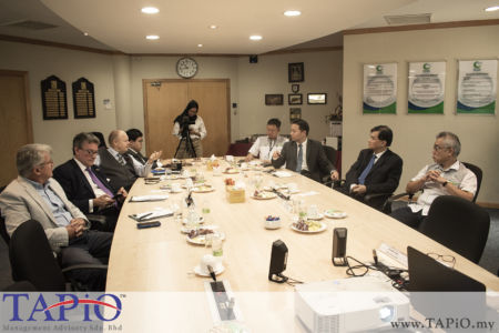 TAPiO team during the meeting with the Port Klang Free Zone.