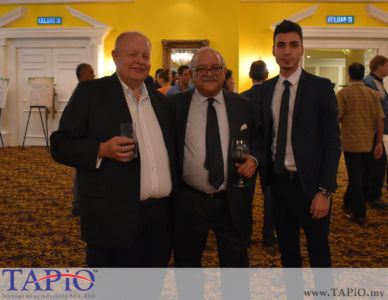 from left to the right: Chairman of TAPiO Management Advisory Mr. Bernhard Schutte, CEO of Standard Chartered Mr. Osman Morad, Mr. Mehmet Akalin