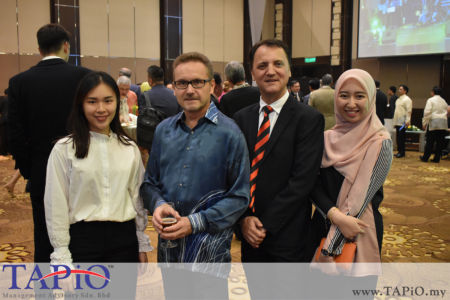 from left to the right: Ms. Tiffany Tang, Ambassador of Finland H.E. Petri Juhani Puhakka, Managing Partner of TAPiO Management Advisory Mr. Thomas Bernthaler, Ms. Ain Aisyah
