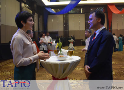 from left to the right: Mrs. Tamara Ann Hardikar, Managing Partner of TAPiO Management Advisory Thomas Bernthaler