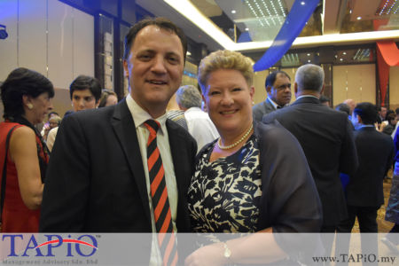 from left to the right: Managing Partner of TAPiO Management Advisory Mr. Thomas Bernthaler, Mrs. Outi Eeva Annika Puhakka