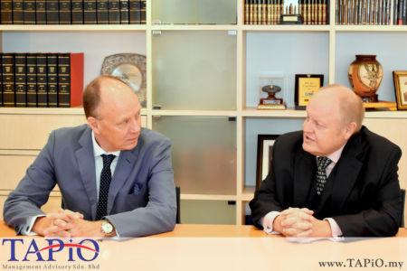 from left to the right: Ambassador of Germany H.E. Nikolaus Von Der Wenge Graf Lambsdorff, Chairman of TAPiO Management Advisory Mr. Bernhard Schutte