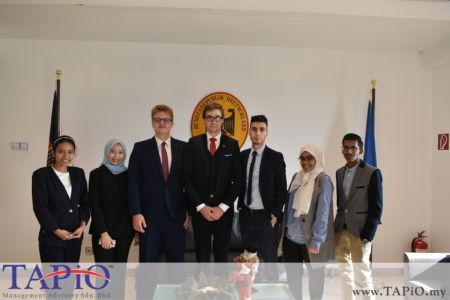 from left to the right: Ms. Naomi, Ms. Ain Aisyah, Mr. Maxime Vandenabeele, Mr. Mehmet Akalin, Ms. Yusrah, Mr. Sajjad
