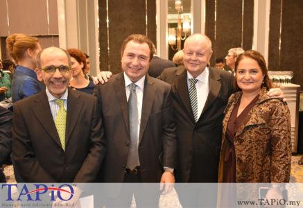 from left to the right: Ambassador of Italy H.E. Cristiano Maggipinto, Ambassador of Austria H.E. Dr. Michael POSTL, Chairman of TAPiO Management Advisory Mr. Bernhard Schutte, Mrs. Fariba POSTL