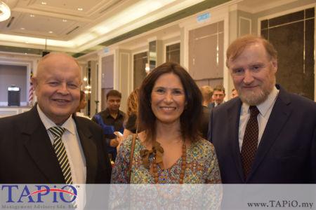 from left to the right: Chairman of TAPiO Management Advisory Mr. Bernhard Schutte, Mrs. Patricia Gloria Trincado Clavero, Ambassador of Ireland H.E. Eamon Hickey