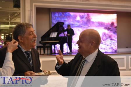 from left to the right: Ambassador of Romania H.E. Constantin Volodea Nistor, Chairman of TAPiO Management Advisory Mr. Bernhard Schutte