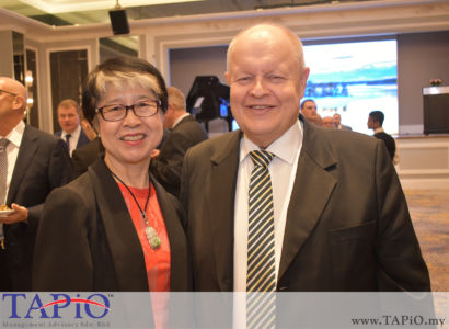 from left to the right: President of Malaysian Investors' Association Datin Ho Choy Meng, Chairman of TAPiO Management Advisory Mr. Bernhard Schutte
