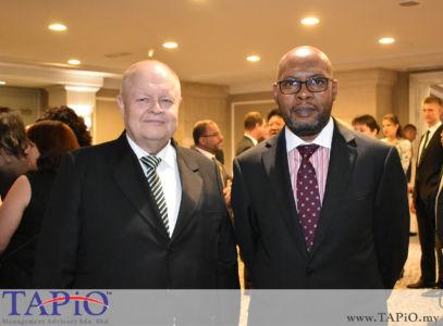 from left to the right: Chairman of TAPiO Management Advisory Mr. Bernhard Schutte, High Commissioner of Zambia H.E Walubita Imakando