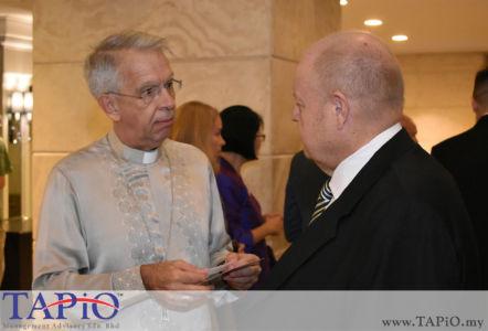 from left to the right: Ambassador of Holy See H.E. Monsignor Joseph Marino, Chairman of TAPiO Management Advisory Mr. Bernhard Schutte