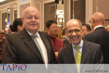 from left to the right: Chairman of TAPiO Management Advisory Mr. Bernhard Schutte, Ambassador of Italy H.E. Cristiano Maggipinto
