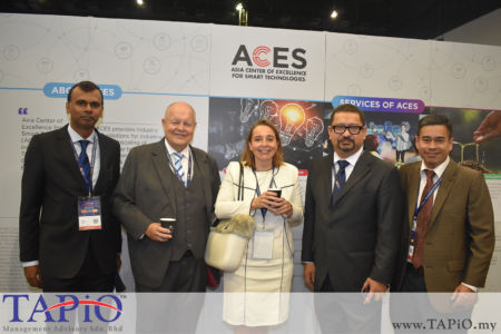 from left to the right: General Manager - Business Development at ECERDC Dato' Ragu Sampasivam, Chairman of TAPiO Management Advisory Mr. Bernhard Schutte, Ambassador of Netherlands H.E. Karin Marike Mossenlechner, Manager Investor Management Division Mr. Saifol Bahari Mohd Shamlan, Investor Management ECERDC Mr. Mohd Imran Abdul Latiff