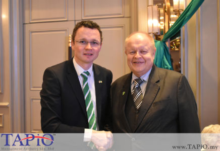 Minister of State for Finance, Public Expenditure & Reform Mr. Patrick O'Donovan TD and Chairman of TAPiO Management Advisory Mr. Bernhard Schutte