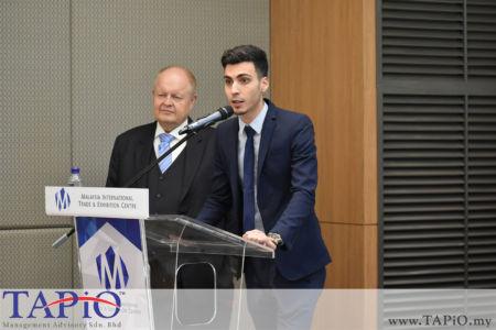 from left to the right:  Chairman of TAPiO Management Advisory Mr. Bernhard Schutte, Mr. Mehmet Akalin