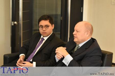 from left to the right: Mr. Nur Redzlan Nur Jazlan, Chairman of TAPiO Management Advisory Mr. Bernhard Schutte